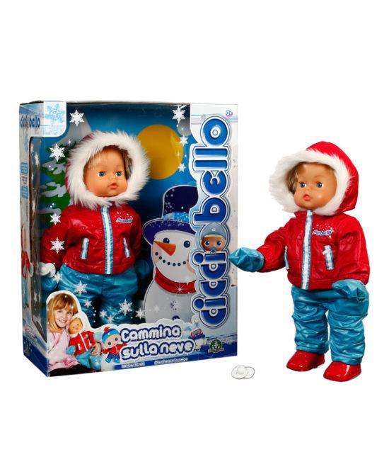 Cicciobello in the snow