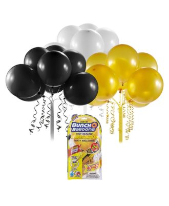 Bunch O Balloons Party refill Celebration ballons noirs, gold, blancs
