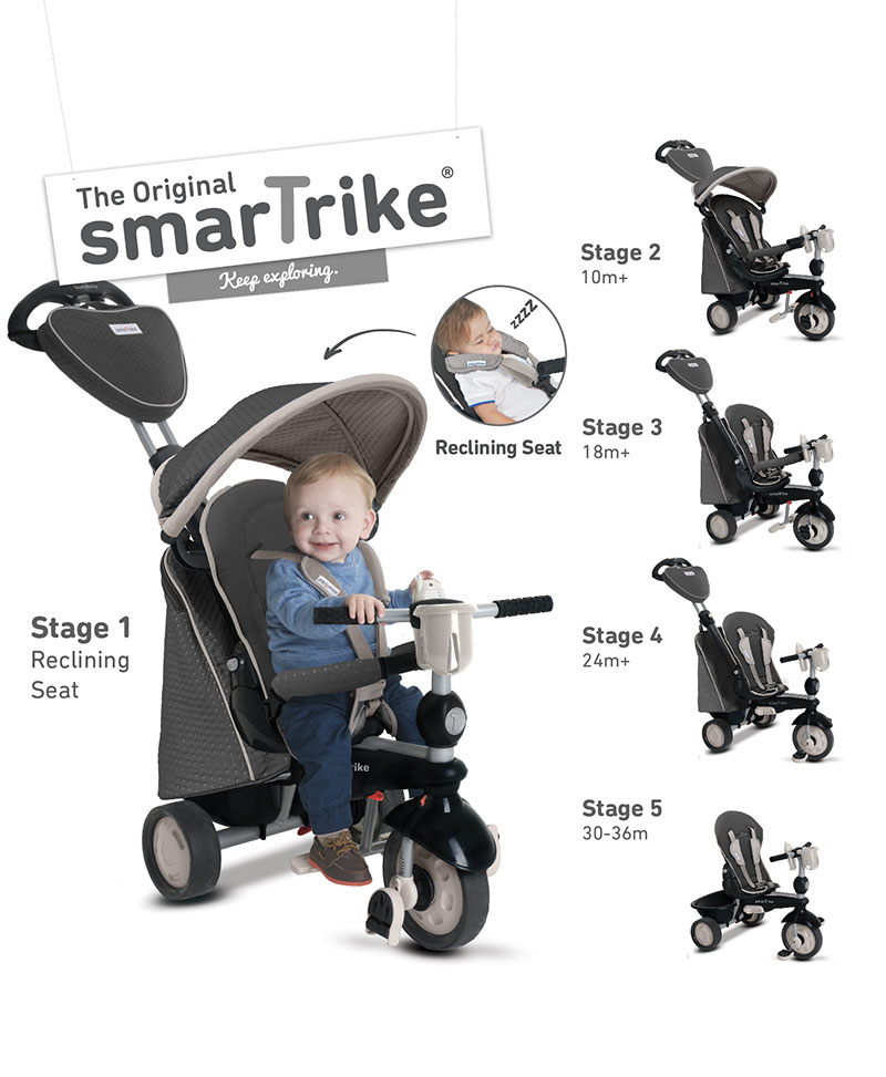 Pousette/Tricycle SmarTrike 5 en 1